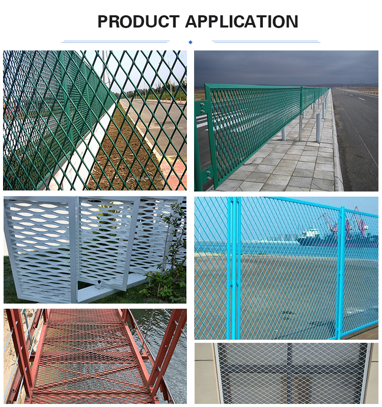 Expanded metal sheet product application