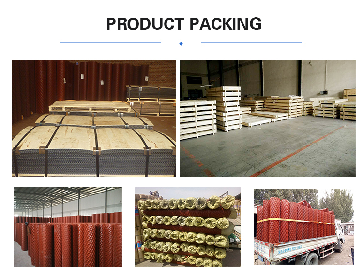 Expanded metal mesh / sheet product packing