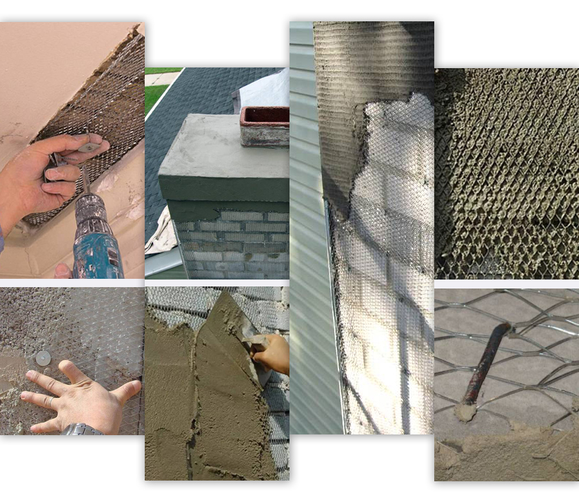 expanded plaster mesh applications