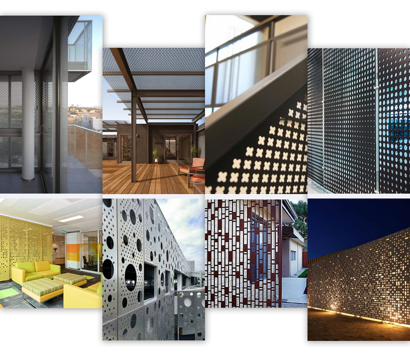Decorative Perforated Metal applications