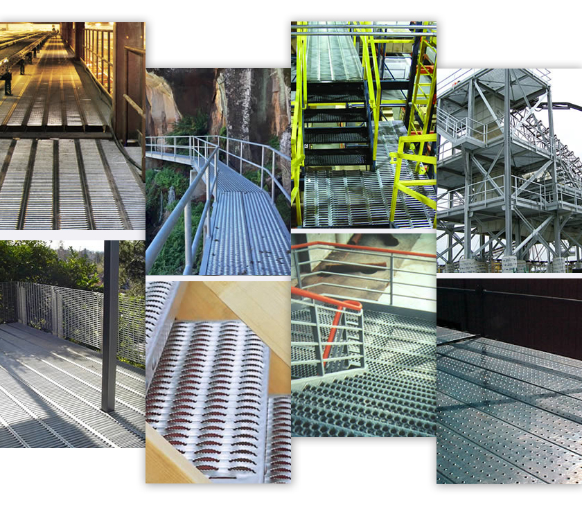 Non Slip grating perforated mesh applications
