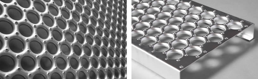 O-grip safety grating perforated mesh