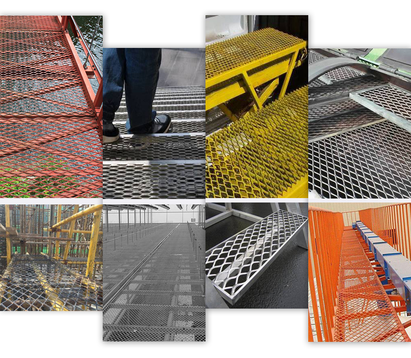 Treads Expanded Metal mesh applications
