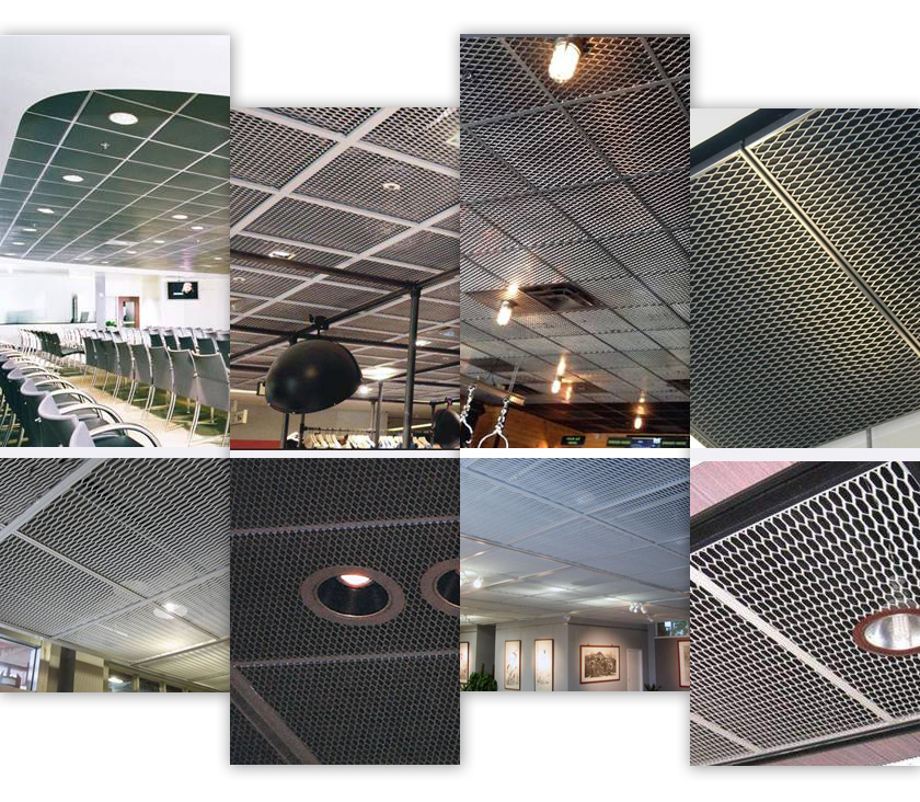 ceiling expanded metal application