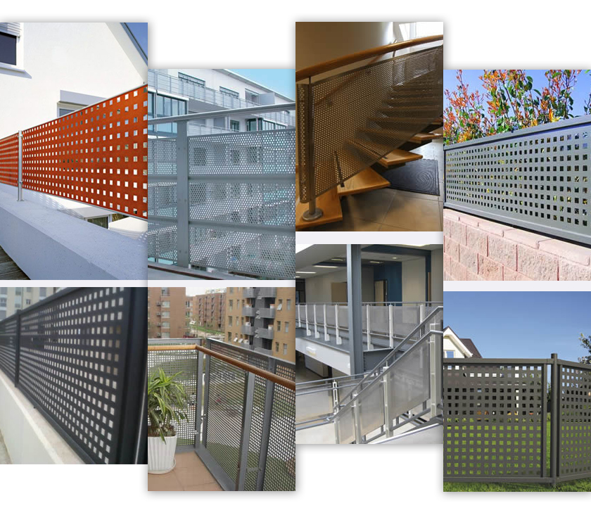 fencing perforated metal applications