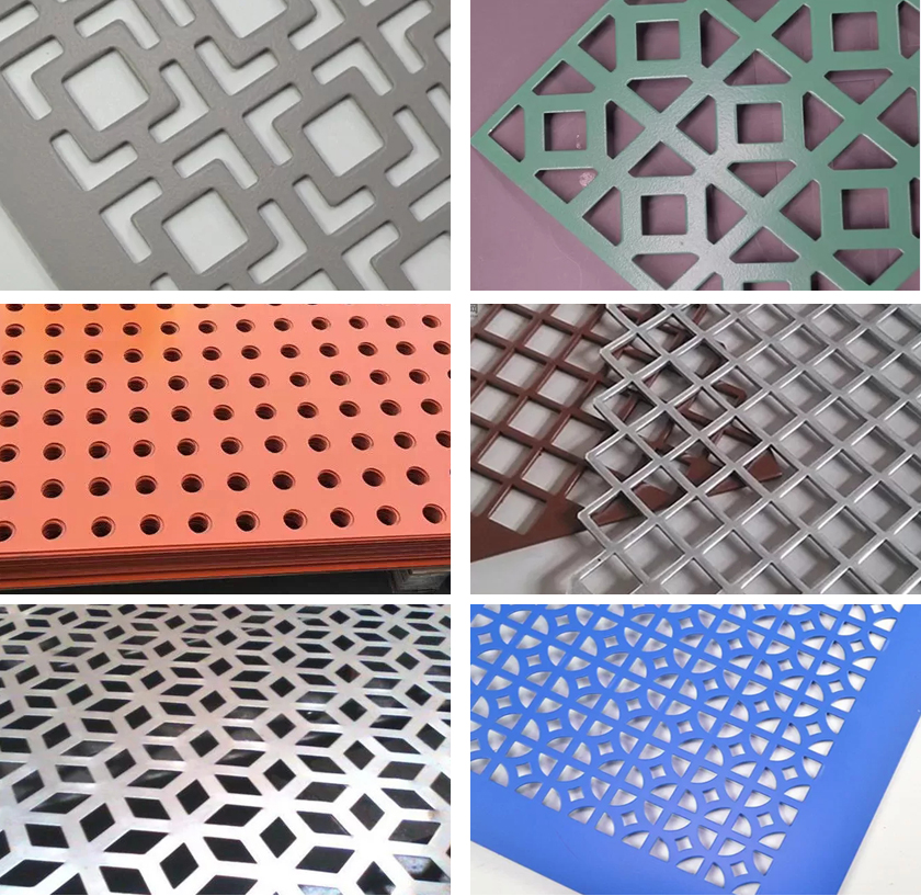 fencing perforated metal details