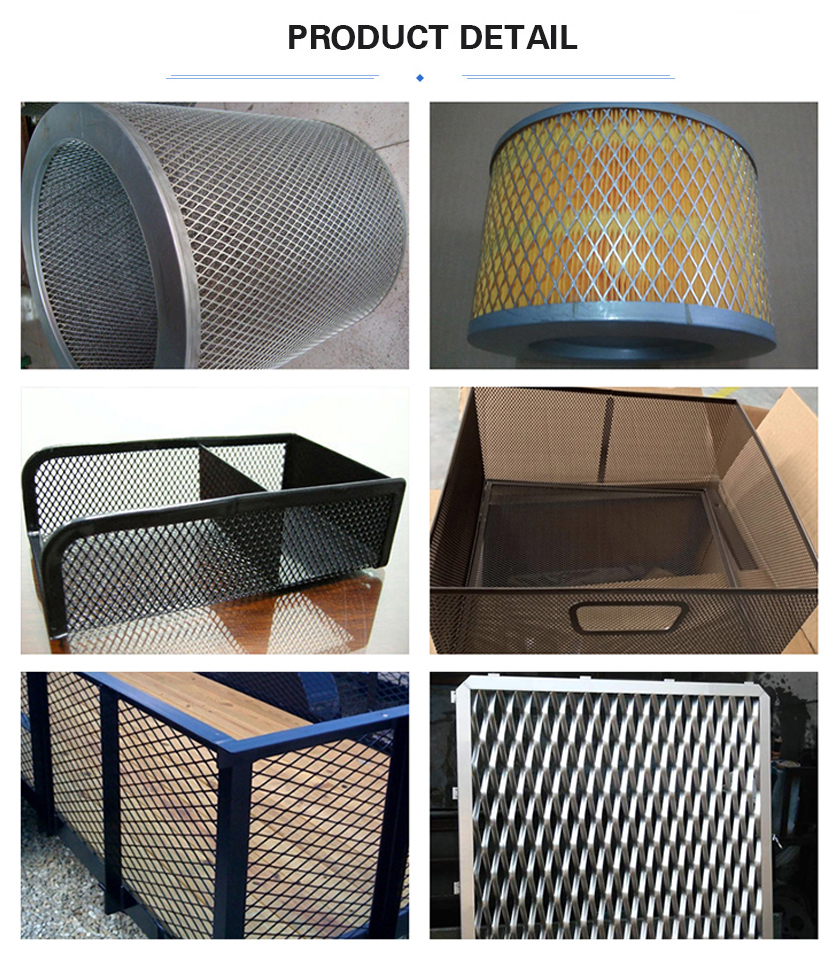 small Expanded metal mesh application