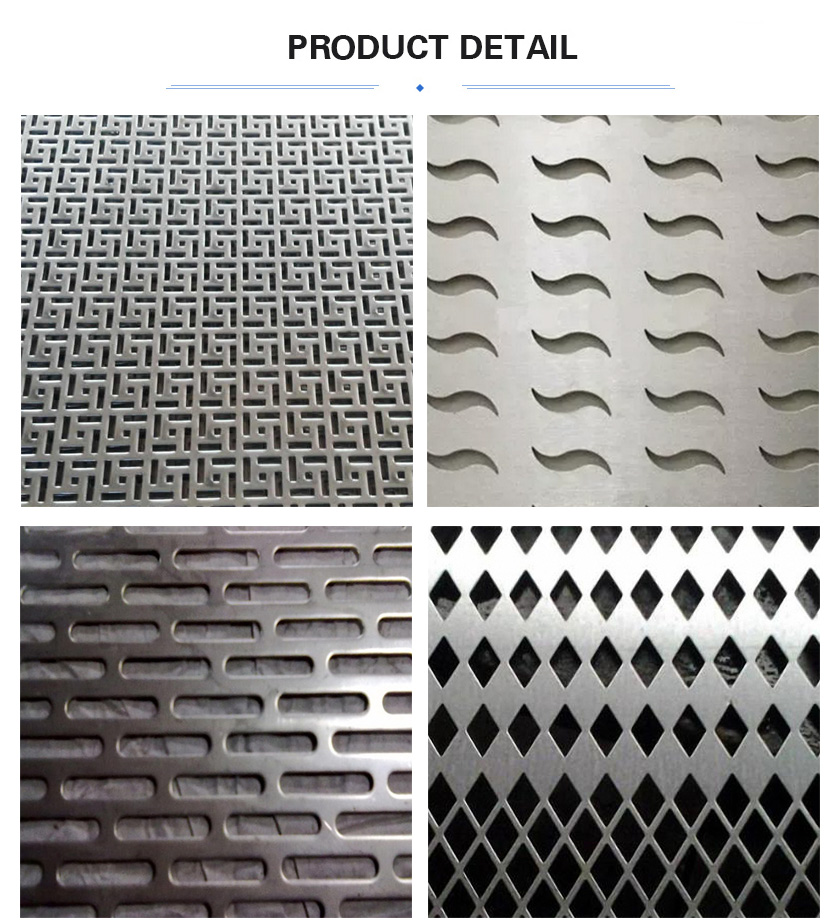 Special hole perforated metal mesh details