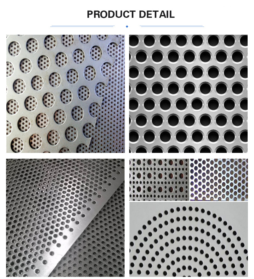 Round hole perforated metal mesh details