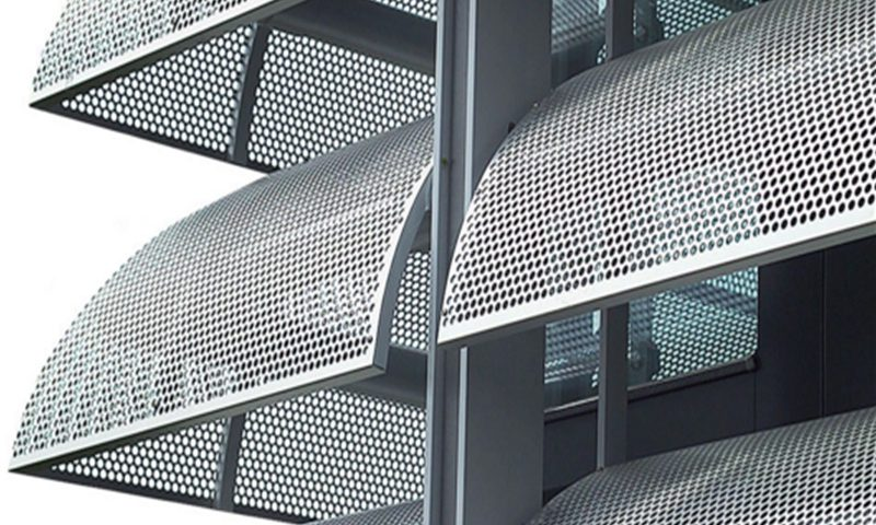Decorative perforated sheet application