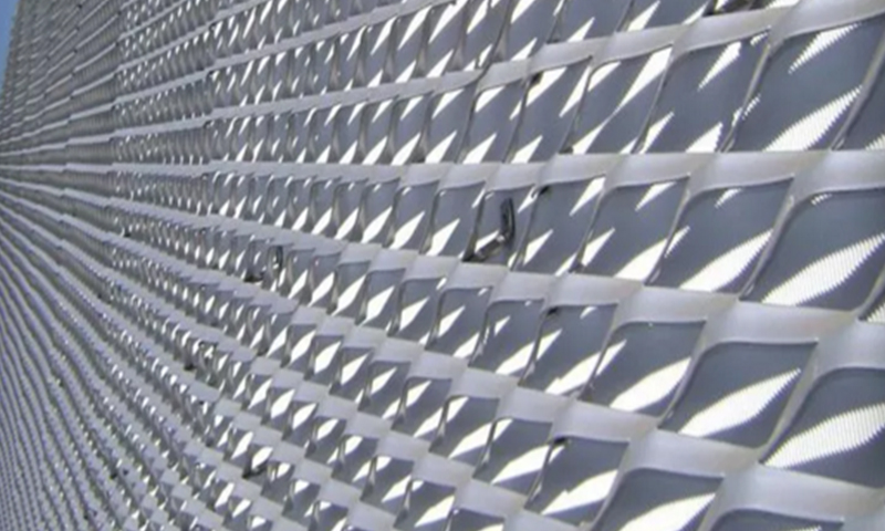 Architectural Expanded Metal Facade Mesh
