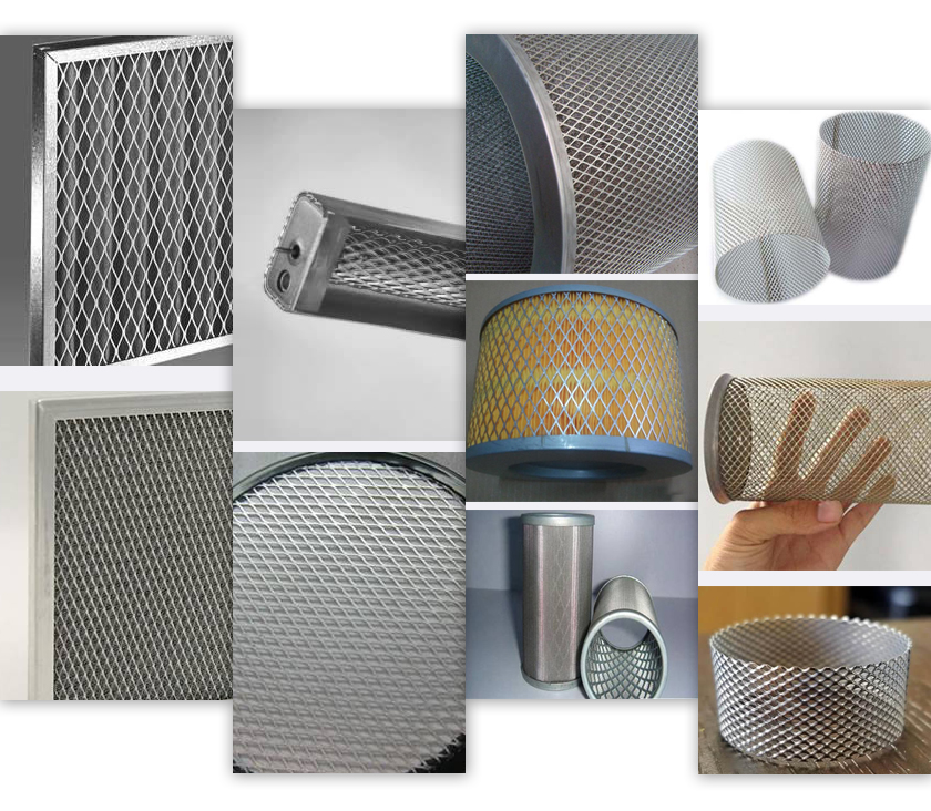 expanded mesh filters applications