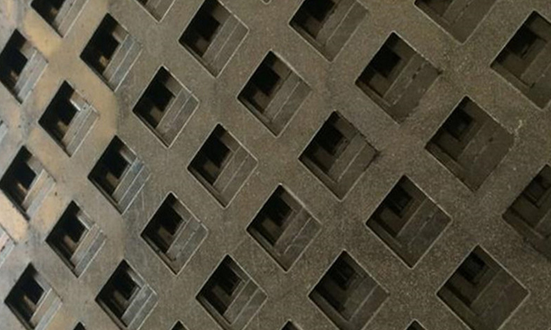 Square Hole Perforated Metal Mesh / Sheet