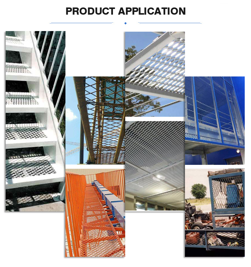 Expanded metal mesh application